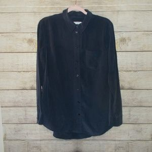Equipment Silk Button Up Blouse Size Large